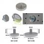 Discos Magnéticos de Neodymium c/ Rosca