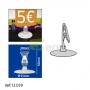 """Porta Preços de Mesa 20x50mm """"I""""  Clip"""