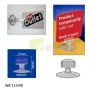 "Porta Preços de Ventosa 27x50mm ""K""  Clip"