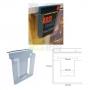 Porta Folhetos PVC - 212 mm