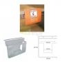 Porta Folhetos PVC - 195 mm